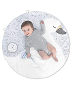Skip Hop Little Swan Monthly Milestone Plush Baby Playmat