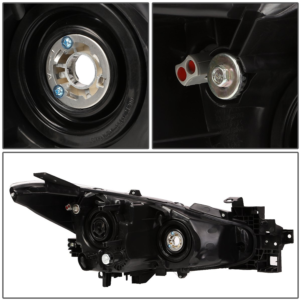 Driver /& Passenger Side DNA Motoring HL-OH-MM314-SM-CL1 Projector Headlight