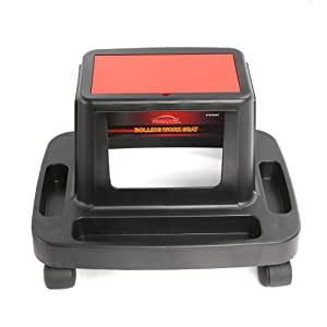 WINTOOLS Mechanic Rolling Work Seat with Multifunctional Storage for Car Repair, Gardening, Plumbing