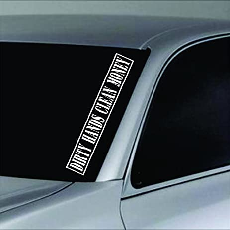 Dabbledown decals dirty hands clean money version 101 car truck window windshield lettering decal sticker decals
