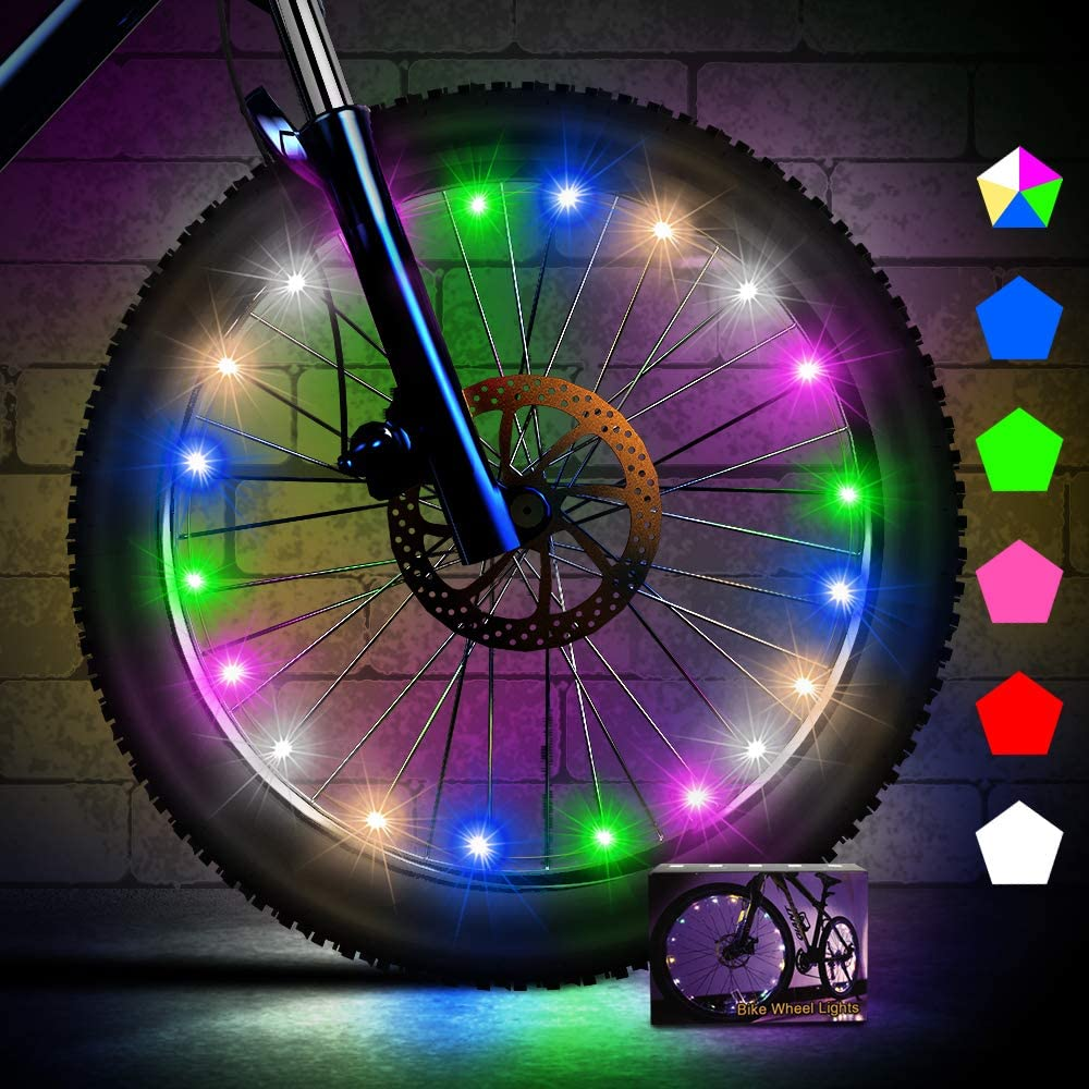 Creatour Bike Wheel Lights Auto Shut-Off LED Waterproof Bike Spoke Light with Batteries Super Bright Cycling Bicycle Light, Cool Kids Bike Accessories for Adult and Kids