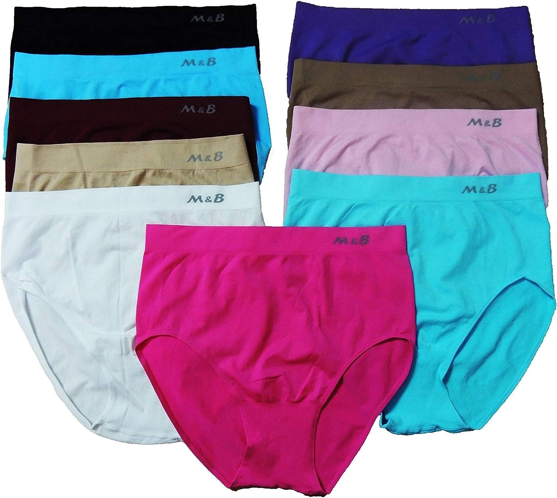 M & B Femme Lot de 5 culottes Taille 42, 44, 46, 48, 50, 52