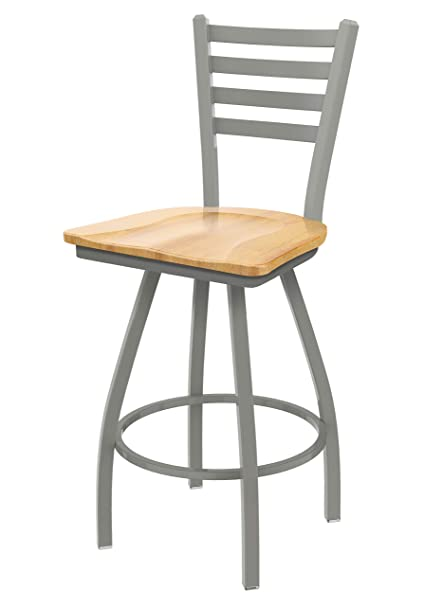 Astounding Xl 410 Jackie 25 Swivel Counter Stool With Anodized Nickel Finish And Natural Maple Seat Lamtechconsult Wood Chair Design Ideas Lamtechconsultcom