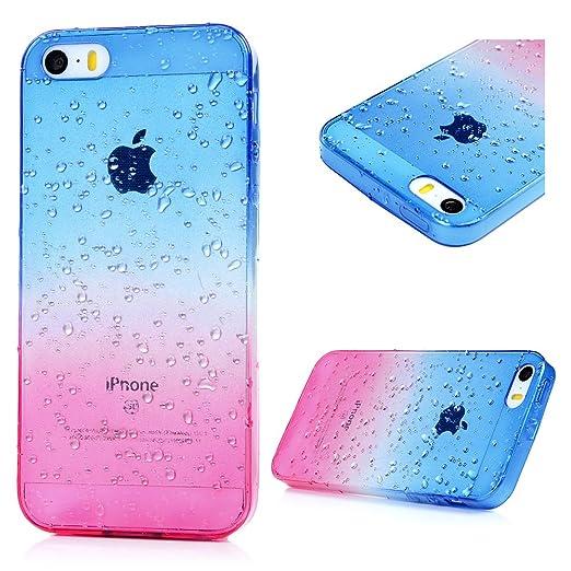 4 opinioni per iPhone SE / 5S/ 5 Custodia Cover Bumper TPU Case- YOKIRIN Morbido Dipinto