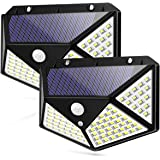 Motion Sensor Solar Lights, Waterproof Outdoor Wall Night Light, 100 LEDs 270° Wide Angle Security for Pathway Porch…