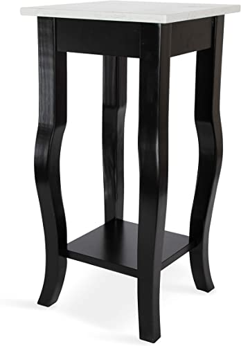 Kate and Laurel Lillian Glam Cultured Marble Top End Table