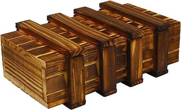 Andux Zone Juego de Rompecabezas de Regalo de Truco de Caja de Madera con cajón Secreto Extra Seguro FGJGH-01: Amazon.es: Juguetes y juegos