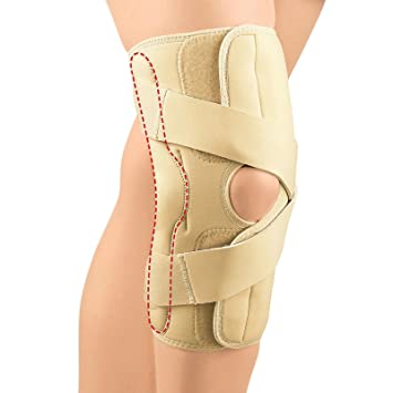 50aaa4890b Image Unavailable. Image not available for. Color: Fla 37-150MDBEG OA  Arthritis Knee Brace for Left & Lateral ...