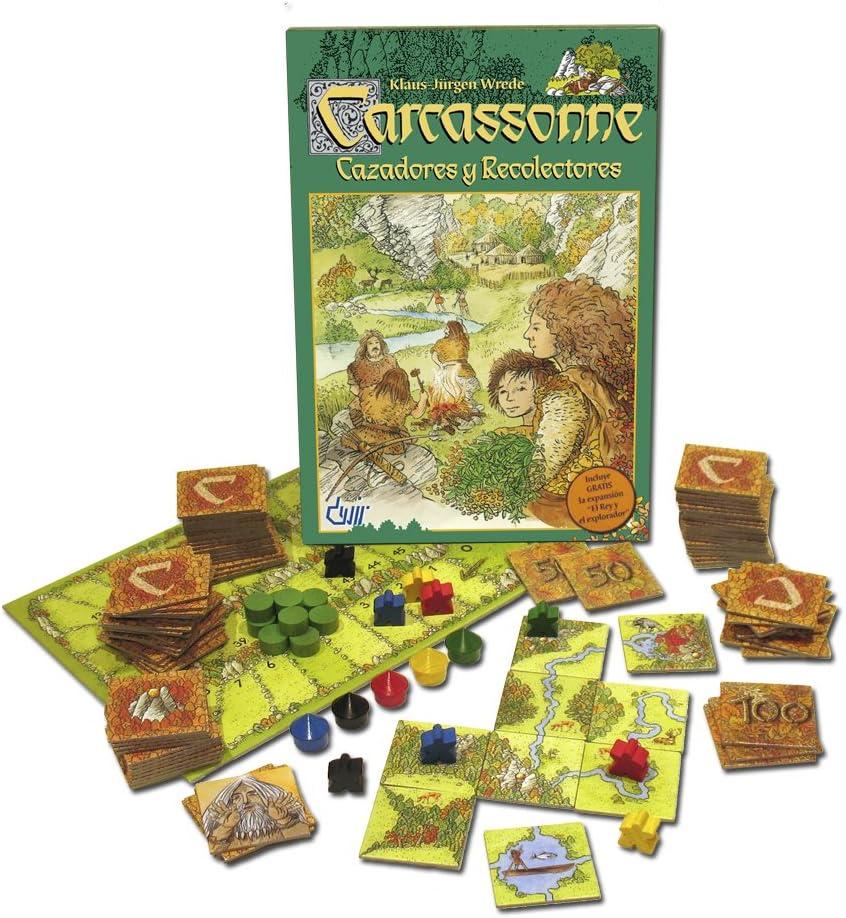 Devir - Carcassonne Cazadores y Recolectores, Juego de Mesa (BGCAZADORES): Amazon.es: Juguetes y juegos