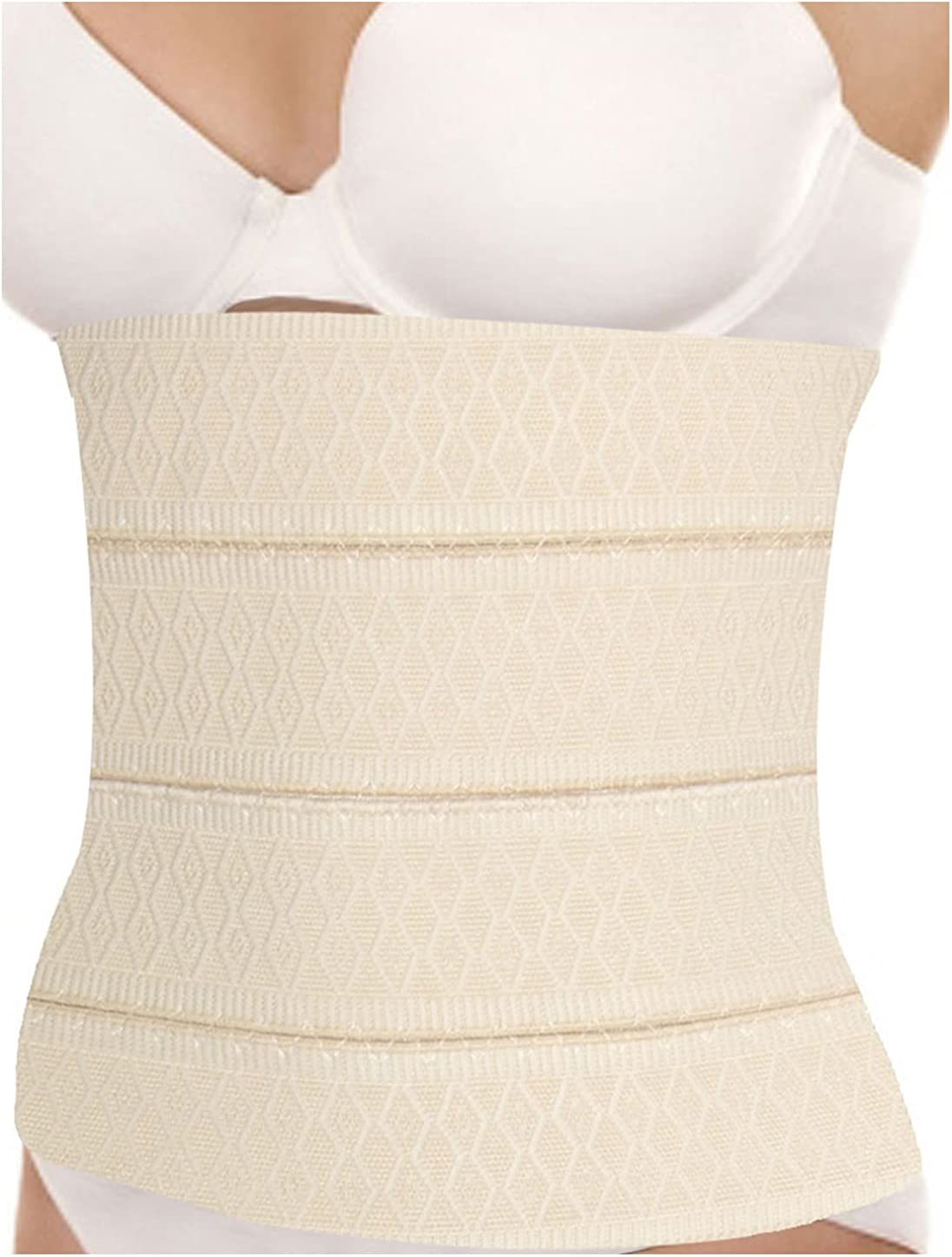 uxcell Women Elastic Body Shaper Belt Trimmer Corset Girdle Waist Cincher S Beige