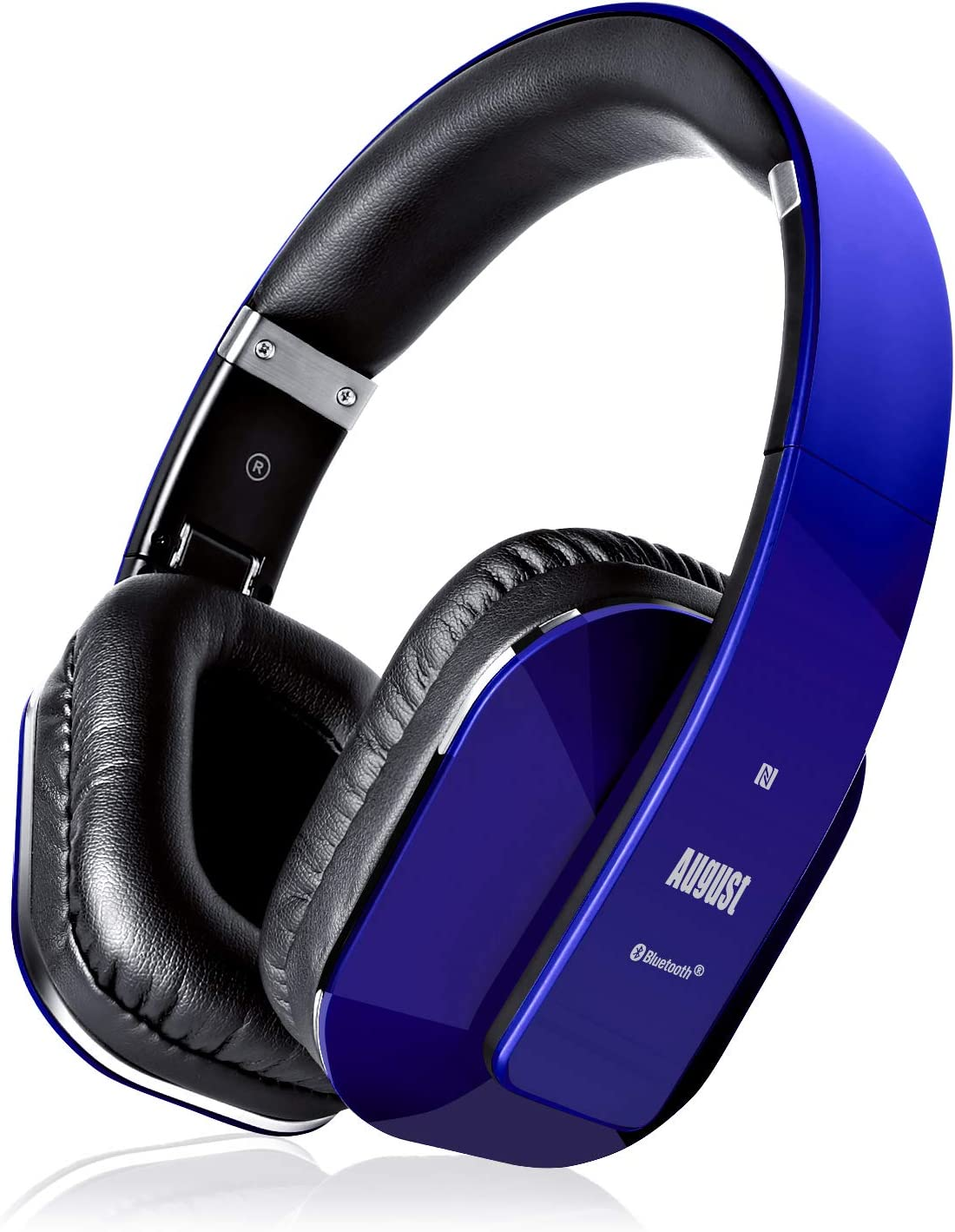 Amazon Com August Ep650 Bluetooth Wireless Over Ear Headphones With Aptx Ll Low Latency Multipoint Nfc 3 5mm Audio In Headset Microphone Blue