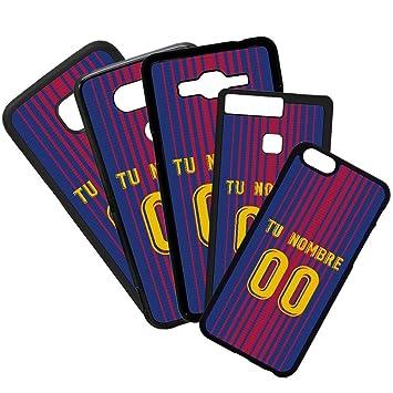 Funda de Movil Carcasa de Moviles Fundas Carcasas de TPU Compatible con el movil iPhone 6 Modelo Camiseta de Fútbol Barcelona Fútbol Club con tu Nombre y ...
