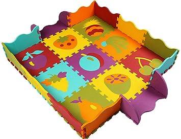 Baldosas Juguetes Am06b Xmtmmd Piso No Niños Puzzle Play De Tóxico Mat Espuma Colorido Suave Jigsaw Y gf6b7y