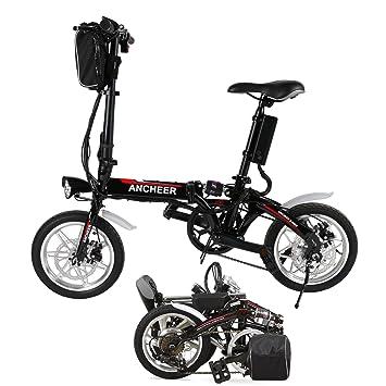 5cdd522199d7c Qulista Vélo Pliant Électrique Roue à 14 Pouces 500W Moteur Shimano, 36V  8Ah Batterie Lithium