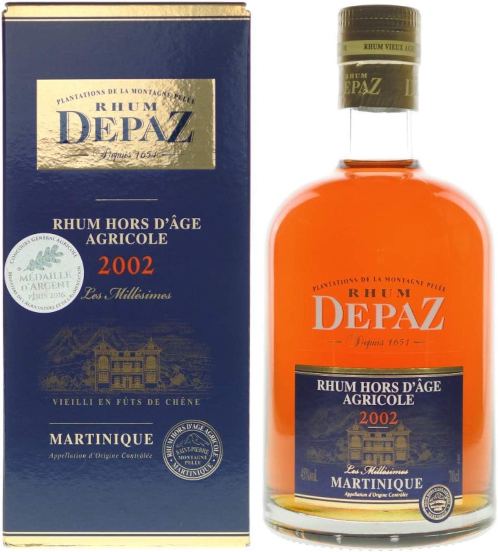 Destilería Depaz - Añada 2002 - En caja de regalo Ron 1 ...