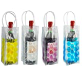 Vivo© Clear Wine Bottle Cooler Chiller Bag Gel Carrier Ice Chilling Cooling Party Gift Fun Picnic Outdoor Ice Cool