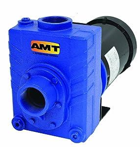 "AMT 2766-95 2"" Cast Iron Self-Priming Centrifugal Pump, 150gpm, 75psi, Buna-N Seal, 3hp"