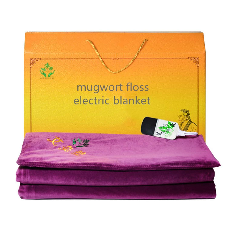電気加熱投げ毛布ソフトフランネル洗えるポリエステル暖かいマットレスよもぎフロスパッドクッションエルダーギフト Large  B07N1HC23Q