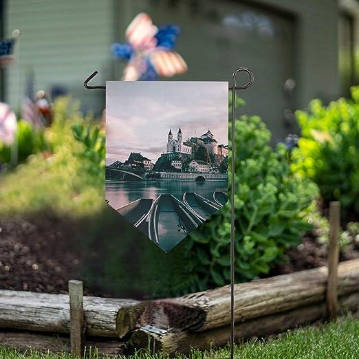 LENNEL Bandera de jardín de Doble Cara 28x40 Pulgadas para Fiesta de jardín Boda Granja Decoración para el hogar Barcos Ríos Suiza: Amazon.es: Jardín
