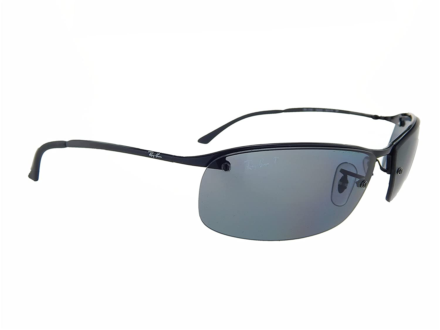 91497abb873acf Amazon.com  New Ray Ban RB3183 002 81 Black  Grey Gradient 63mm Polarized  Sunglasses  Clothing