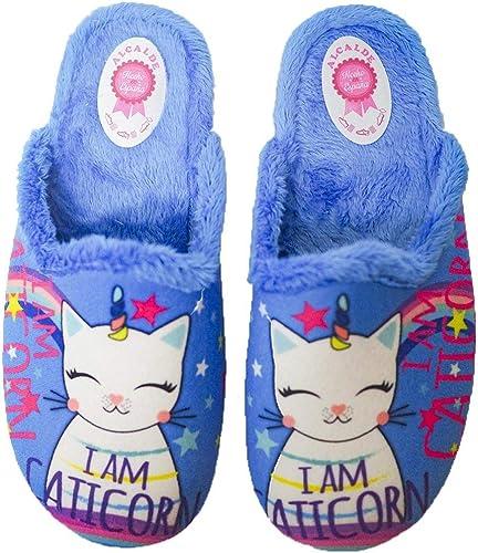 Zapatillas De Estar por casa para Mujer Fabricada en España 6090 Azulón - Color - Azul, Talla - 32: Amazon.es: Zapatos y complementos