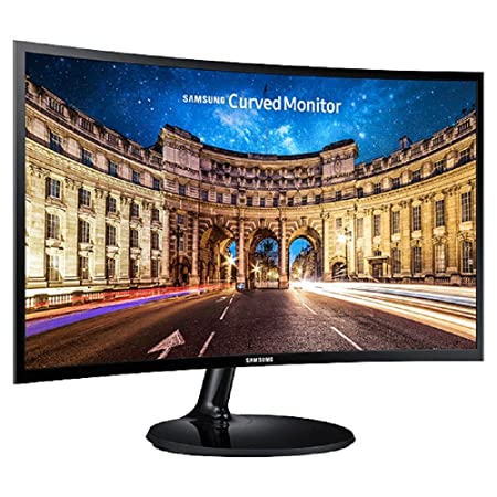 Samsung LC24F390FHWXXL 23.6-inch Curved LED Monitor (Black) Monitors at amazon