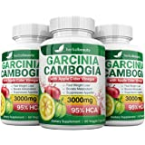 Pure Garcinia Cambogia Extract & Apple Cider Vinegar- 3000mg Capsules - All Natural Weight Loss, Detox, Digestion…