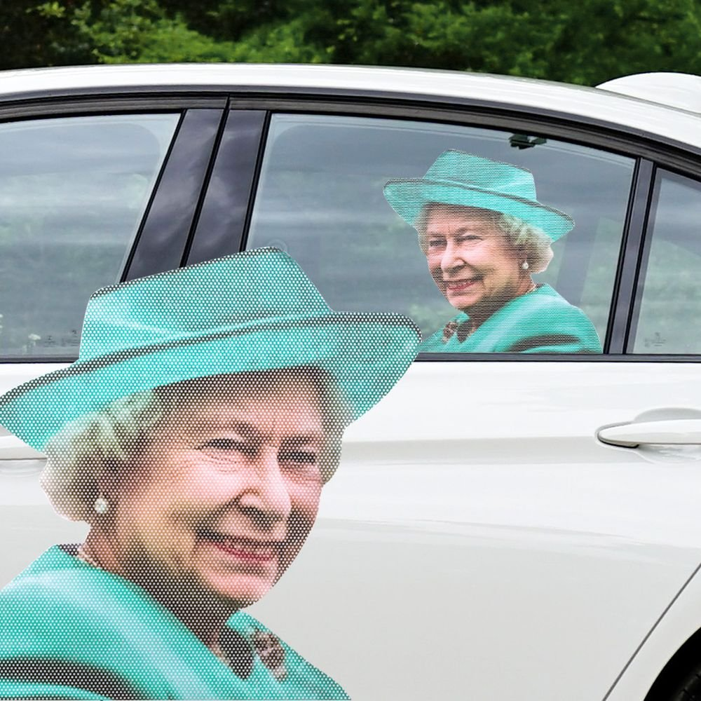 Ride With The Queen Car Passenger Window Sticker Decal