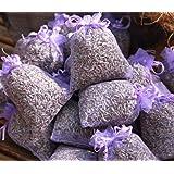 Quertee Lot de 10sachets de lavande parfumée bio 100g lavande fleurs
