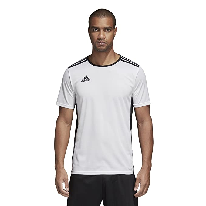 adidas Men's Soccer Entrada 18 Jersey, White/Black, Large