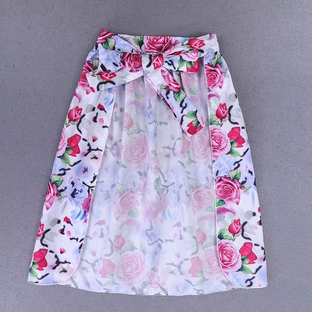 Lurryly❤Girls T-Shirt Tops+Floral Shorts Dress Party Clothes Toddler Kids Outfits 3PCS 2-7T