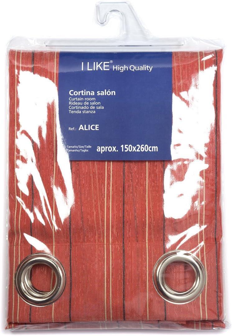 I LIKE Cortina DE SALÓN Alice 100% Poliester 150 X 270 CM - Color BERMELLO