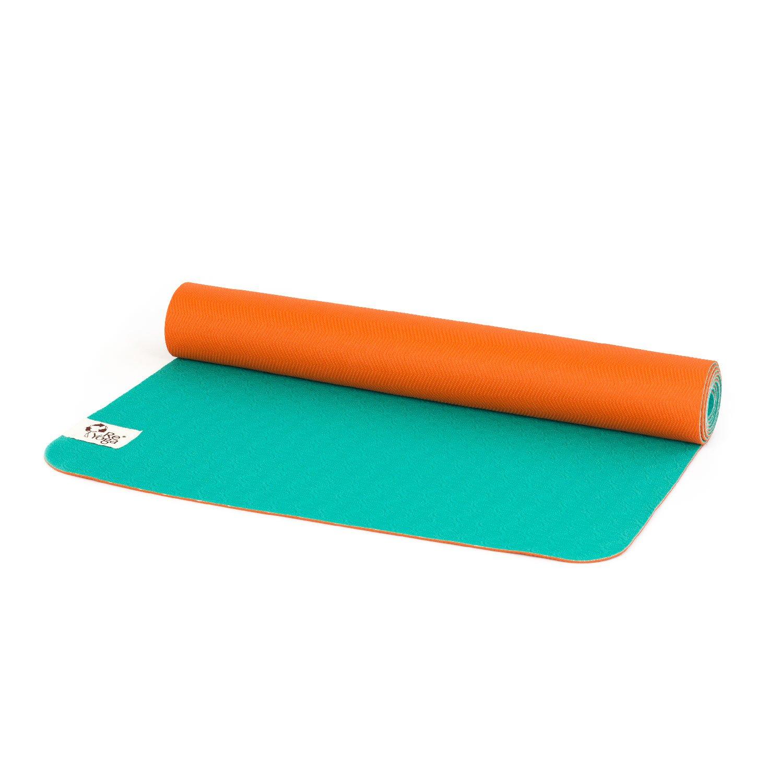 Colchoneta Yoga ecológico ReMat LIGHT - naranja/turquesa ...
