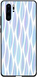 Okteq Case Cover for Huawei P30 Pro Shock Absorbing PC TPU Full Body Drop Protection Cover matte printed - blue shapes By Okteq