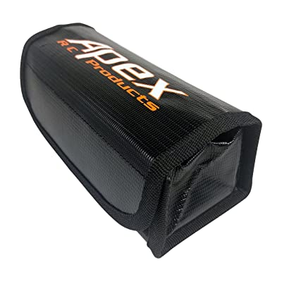 LARGE Fire Resistant Lipo Battery Bag for Safe Charging & Storage - 175mm x 75mm x 55mm - Apex RC Products #8087: Toys & Games