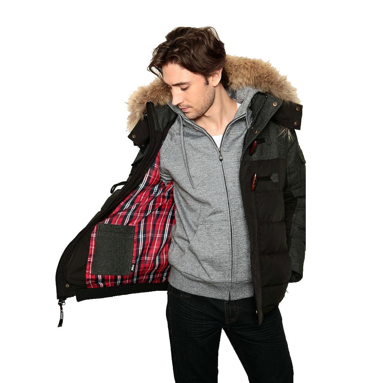 Pajar Men's JADDEN Down Parka Jacket Rabbit fur lined hood ...