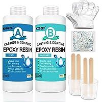 Epoxy Hars en Hardener Kit 300ml/325g - 2 deel Crystal Clear Resin Coating voor hout, Bar, tafel, Sieraden maken, Craft…