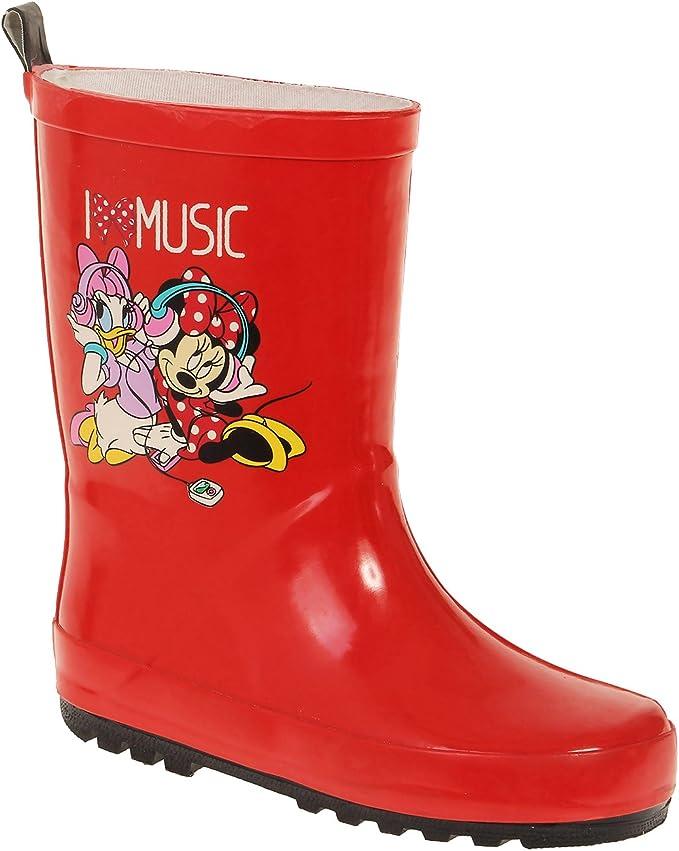 Disney Minnie Fille Bottes de pluie rouge: