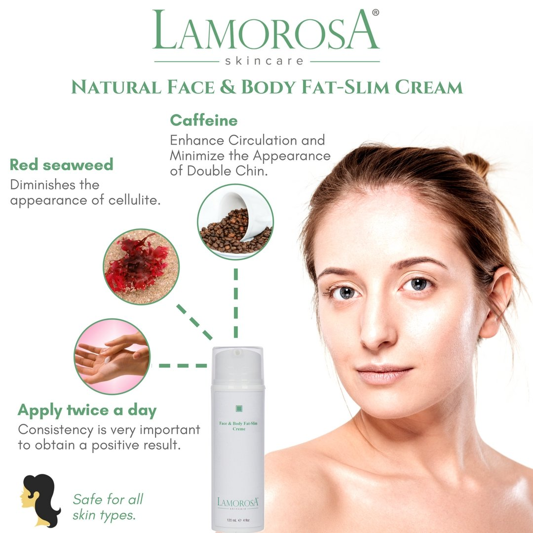 Reduces Cellulite and Double Chin, Natural Face & Body Slimming Cream 4 oz