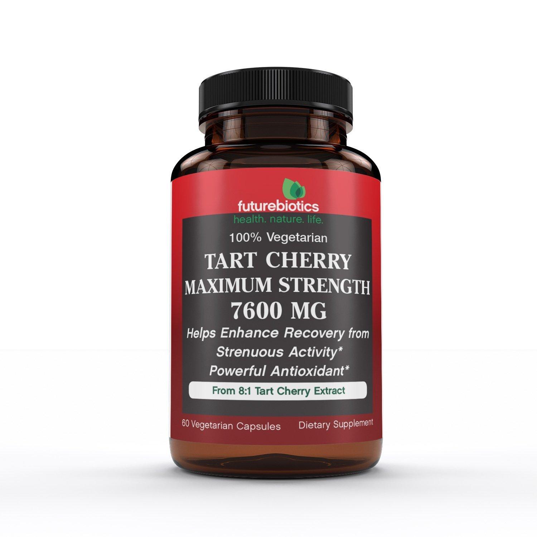 Futurebiotics Tart Cherry Maximum Strength 7600 mg, 60 Vegetarian Capsules
