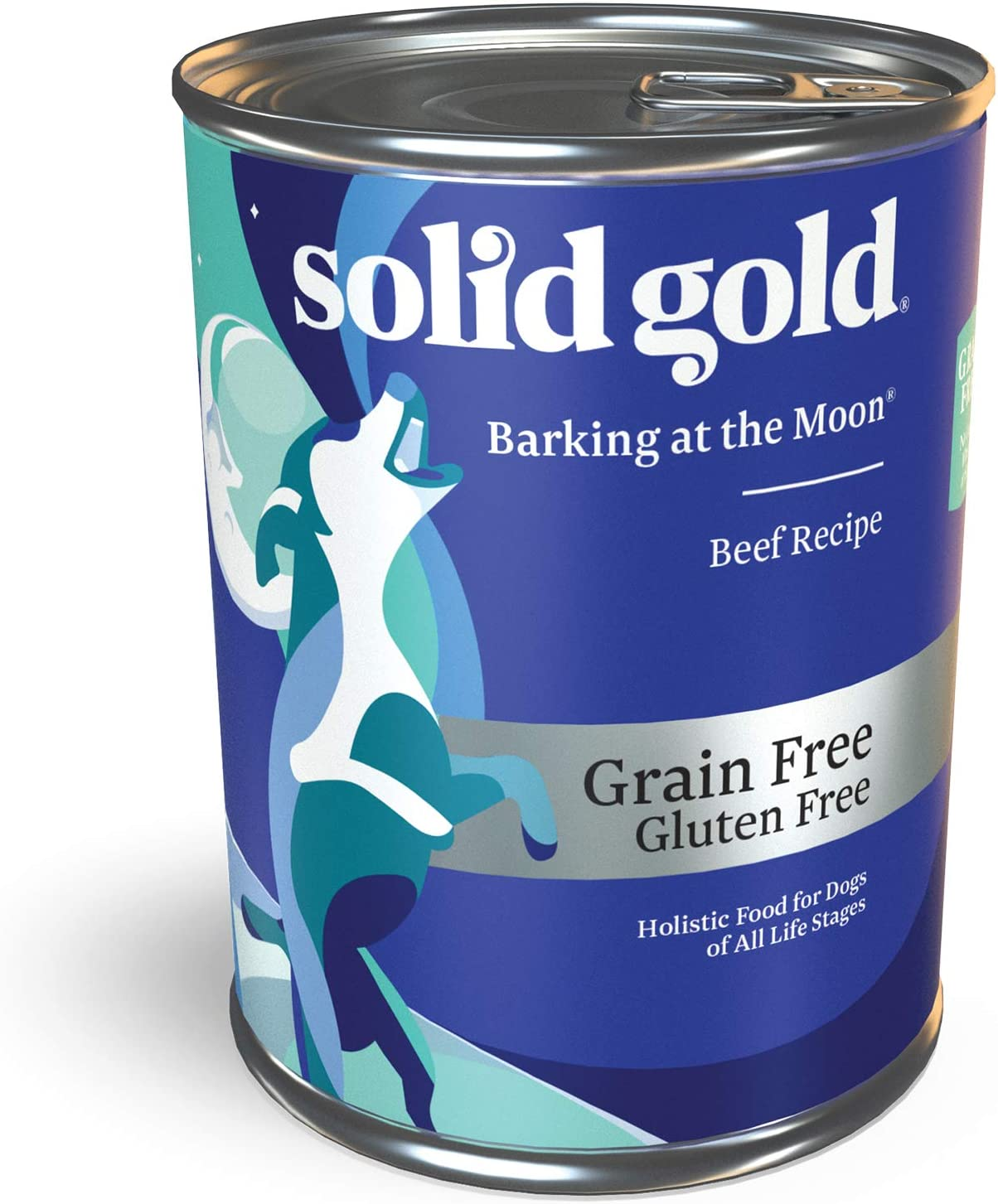 Solid Gold High Protein Wet Dog Food; Barking at The Moon Grain Free with Real Beef