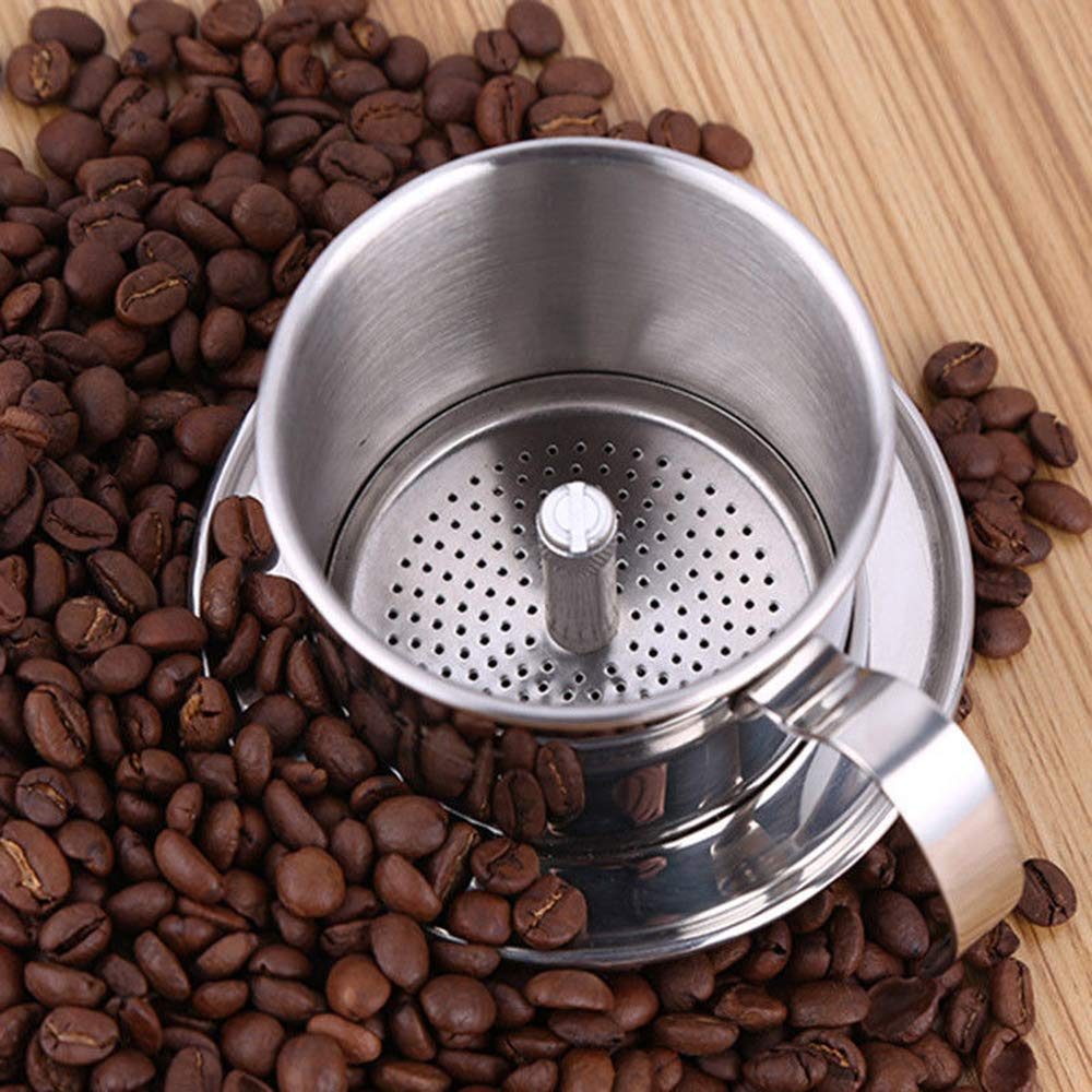 Vietnamese Coffee Filter Maker,Stainless Steel Vietnam Vietnamese Coffee Simple Drip Filter Maker Infuser New (100ml) by Way2top (Image #7)