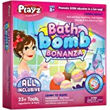 Playz Bath Bomb Bonanza Science Activity, Craft, & Experiment Kit - 23+ Tools to Make Magic Soda, Foaming Eruptions, Floating Bombs & More for Girls, Boys, Teenagers, & Kids Ages 8+