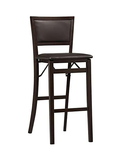 Linon Keira Pad Back Folding Bar Stool