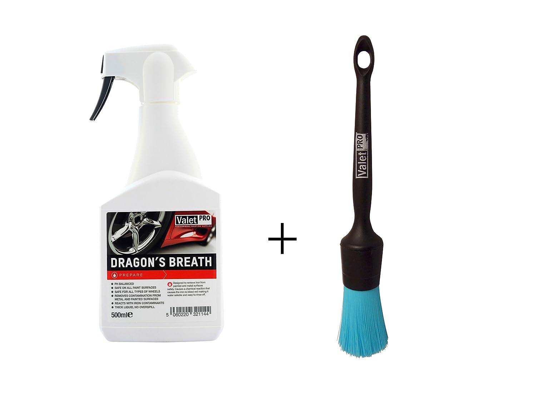 1pièce Vale TPRO Dragon's Breath 500ml–Jante pur + 1Vale TPRO Black Handle chem Resistant–Pinceau de nettoyage/élimine la poussière de frein et autres