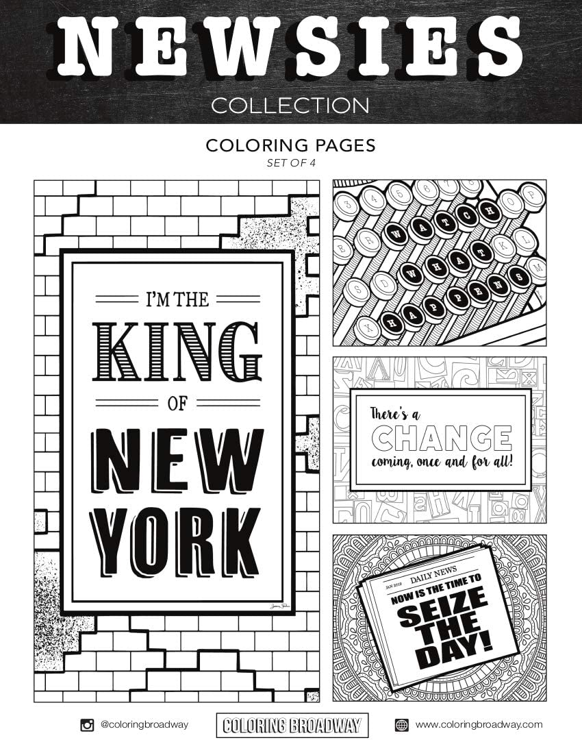 Broadway Coloring Pages | Coloring Page Blog