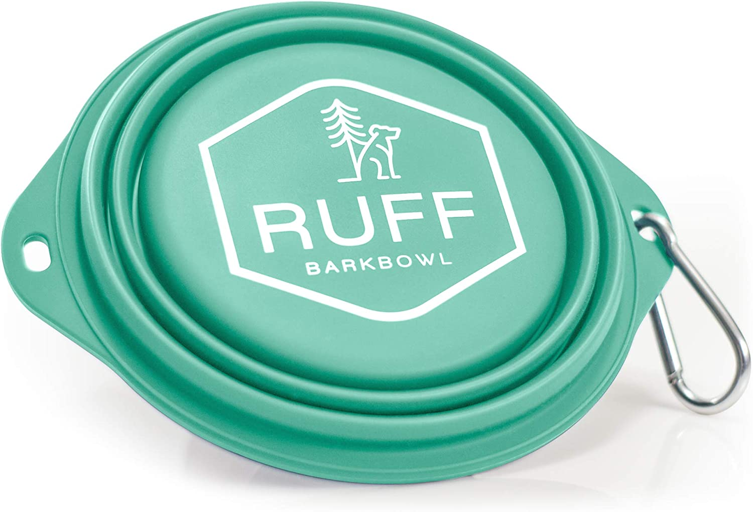 Ruff Products BarkBowl (Tiffany Blue, 800ml) - Collapsible Dog Bowl Premium Quality, Platinum-Cured Food Grade Silicone, No Plastic Rim, Food Safe, Large Travel Bowl