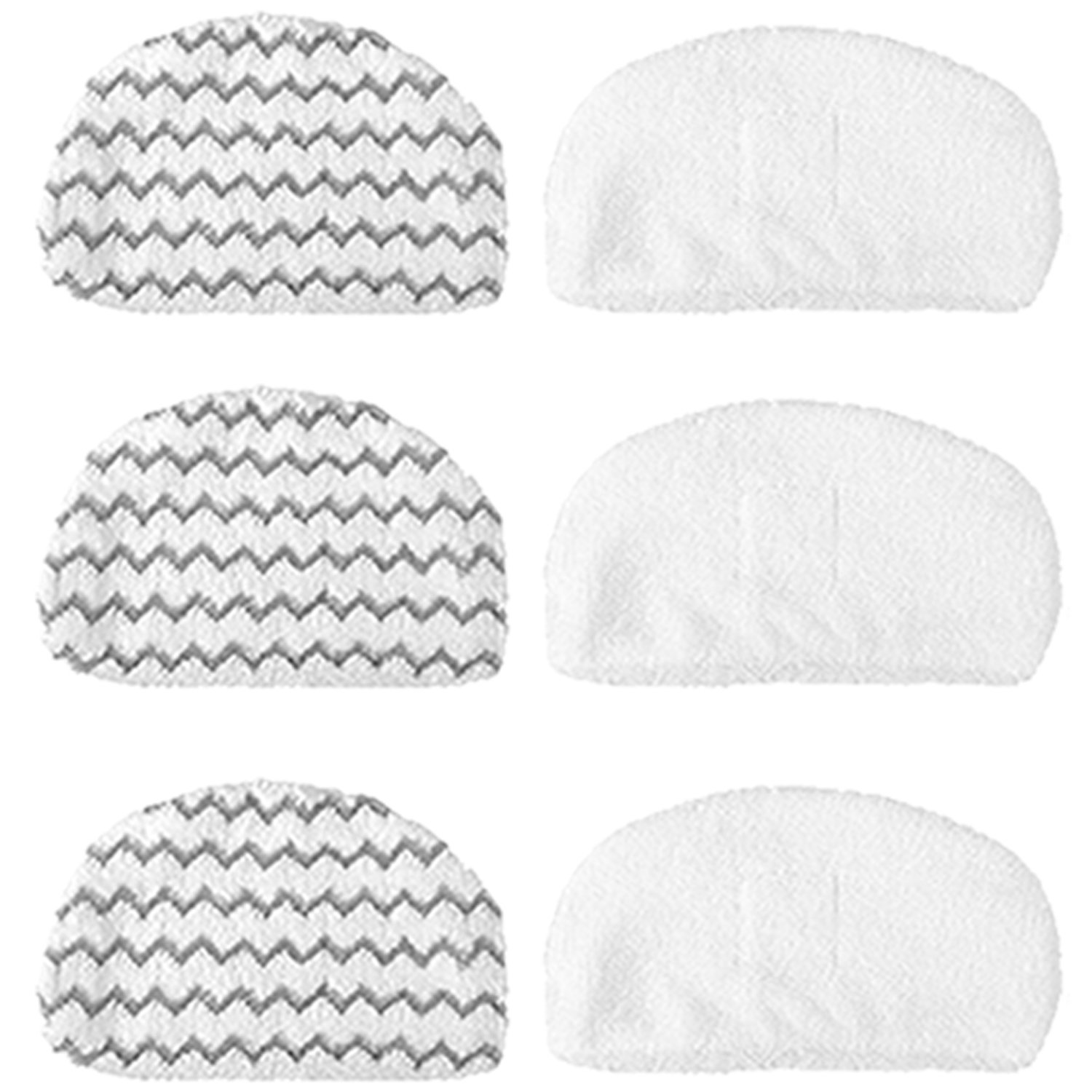 6Pcs Amyehouse Washable Mopping & Scrubbing Pads Replacement for Bissell Powerfresh 1940 1440 1544 Series Steam Mop Model 1544A, 2075A, 1440, 1940W,19404, Deluxe 1806, 1940A, 5938, 19408, 1940Q, 1940W by Amyehouse
