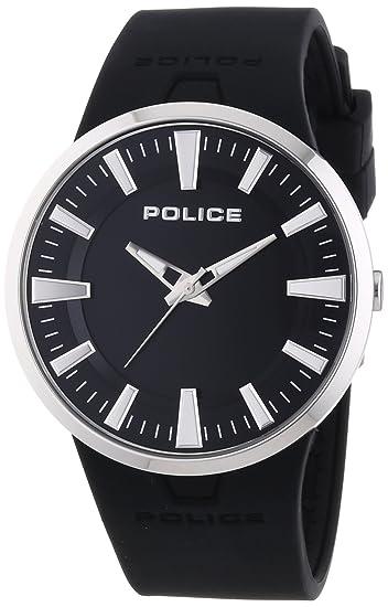 Police DAKAR - Reloj de cuarzo para hombre, con correa de goma, color negro