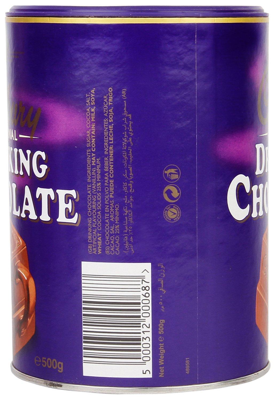 Amazon.com : Cadbury Original Drinking Chocolate 500gram : Hot ...